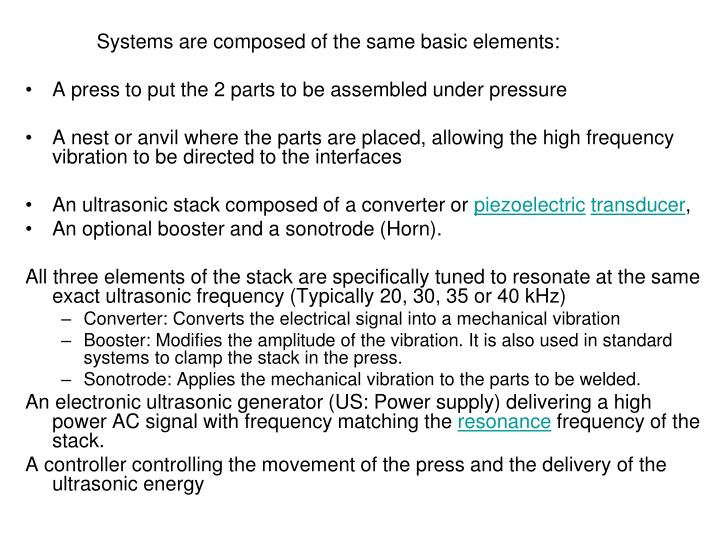 Systems are composed of the same basic elements:
