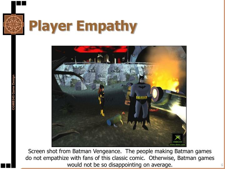 Player Empathy