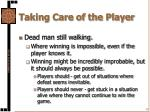 taking care of the player3