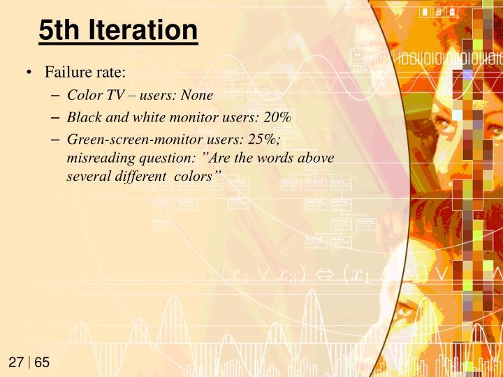 5th Iteration
