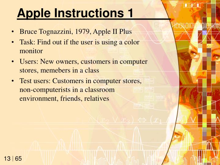 Apple Instructions 1