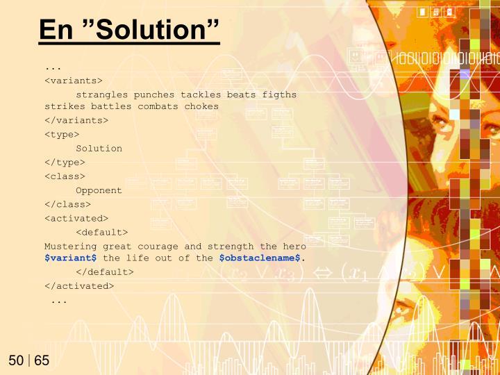 "En ""Solution"""