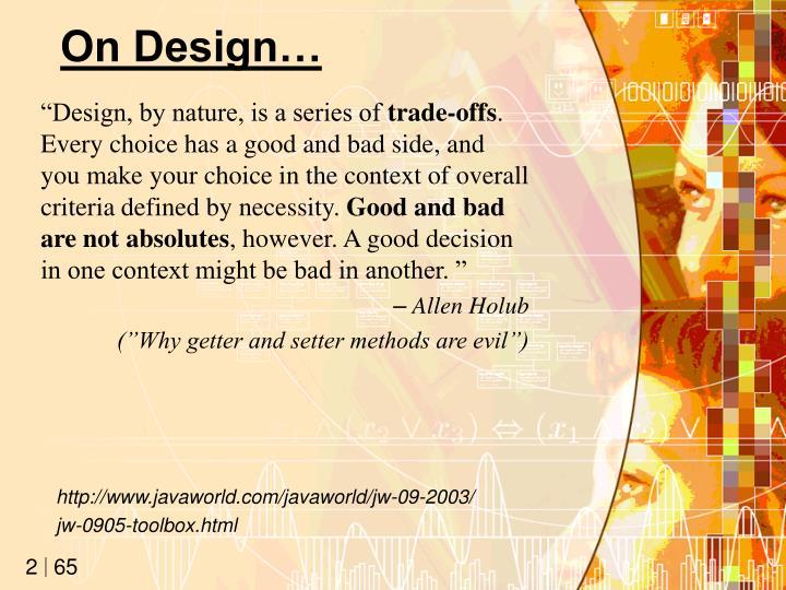 On Design…