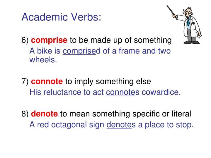 Academic Verbs: