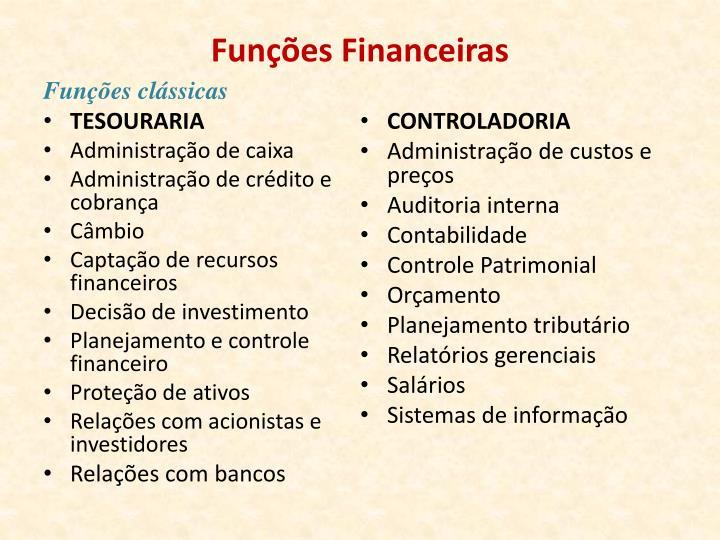 Funções Financeiras