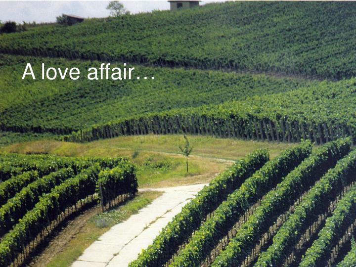 A love affair…