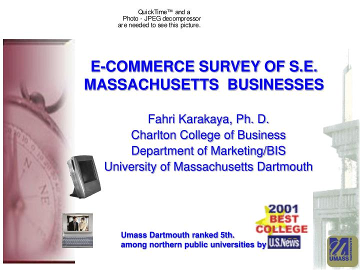 E-COMMERCE SURVEY OF S.E. MASSACHUSETTS  BUSINESSES