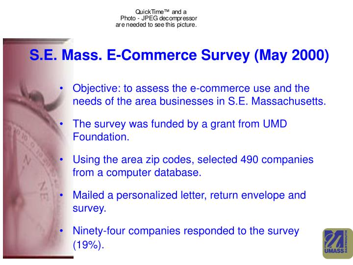 S.E. Mass. E-Commerce Survey (May 2000)