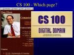 cs 100 which page