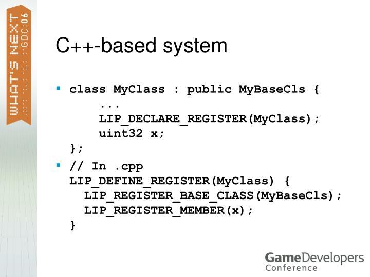 C++-based system