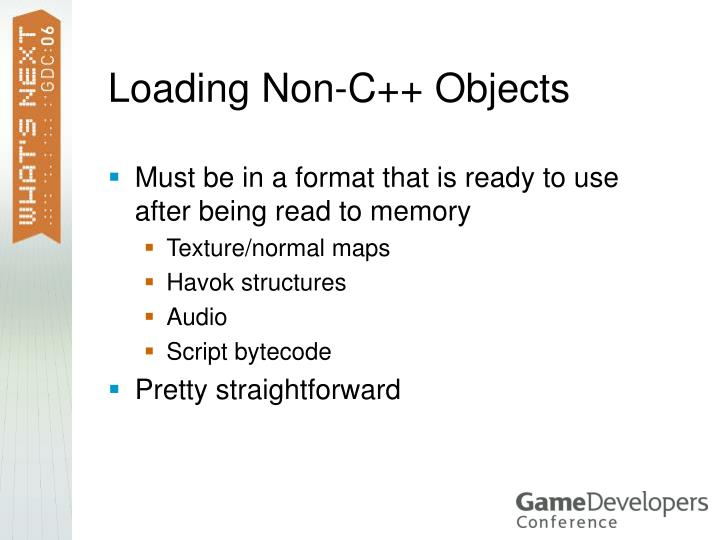 Loading Non-C++ Objects