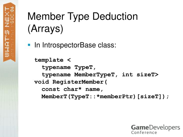 Member Type Deduction (Arrays)
