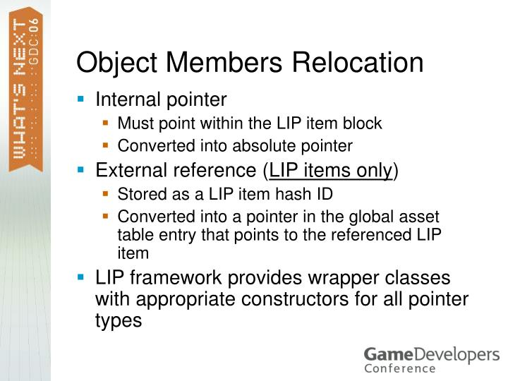 Object Members Relocation