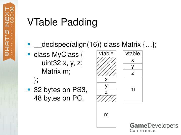VTable Padding