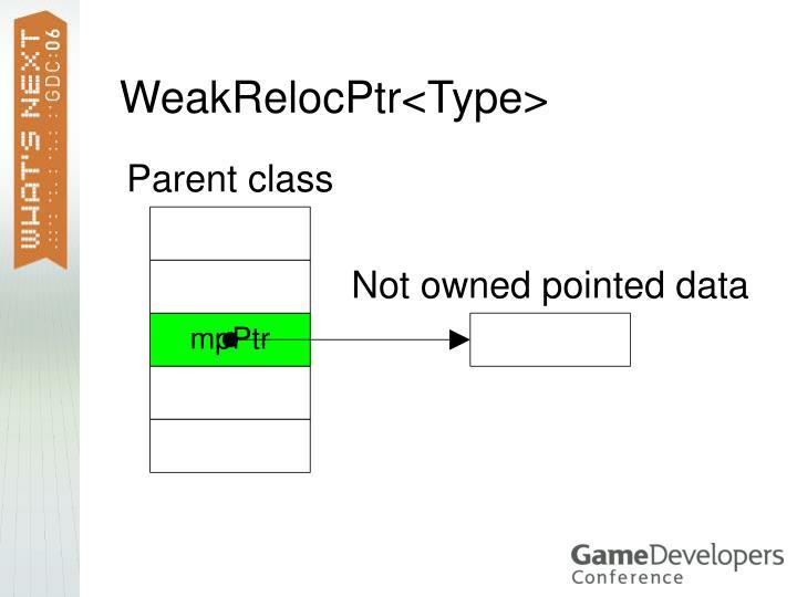 WeakRelocPtr<Type>