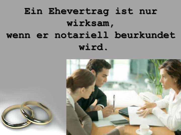 Ein Ehevertrag ist nur