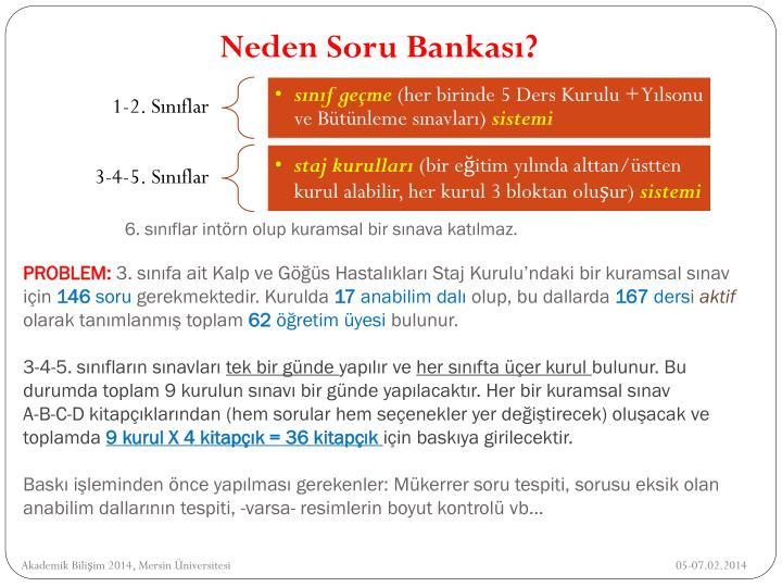 Neden Soru Bankası?