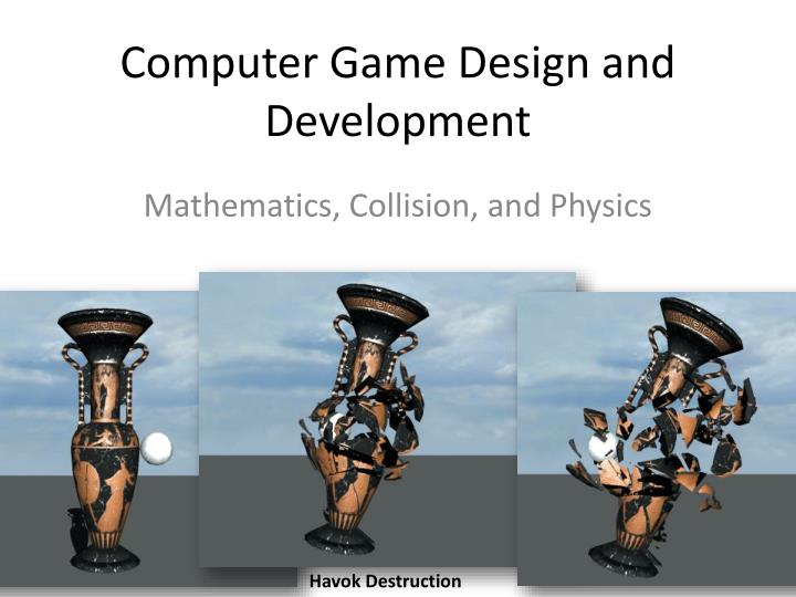 Computer game design and development