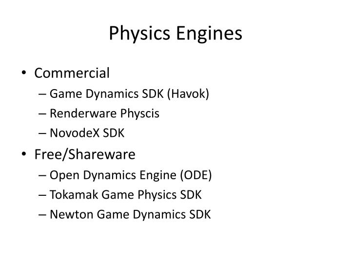 Physics Engines