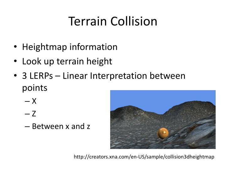 Terrain Collision