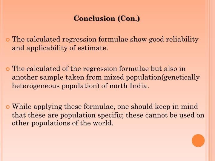 Conclusion (Con.)