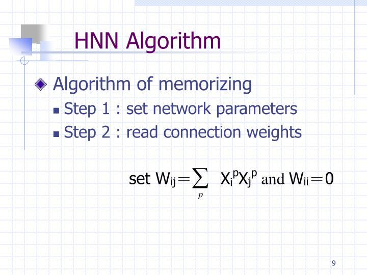HNN Algorithm