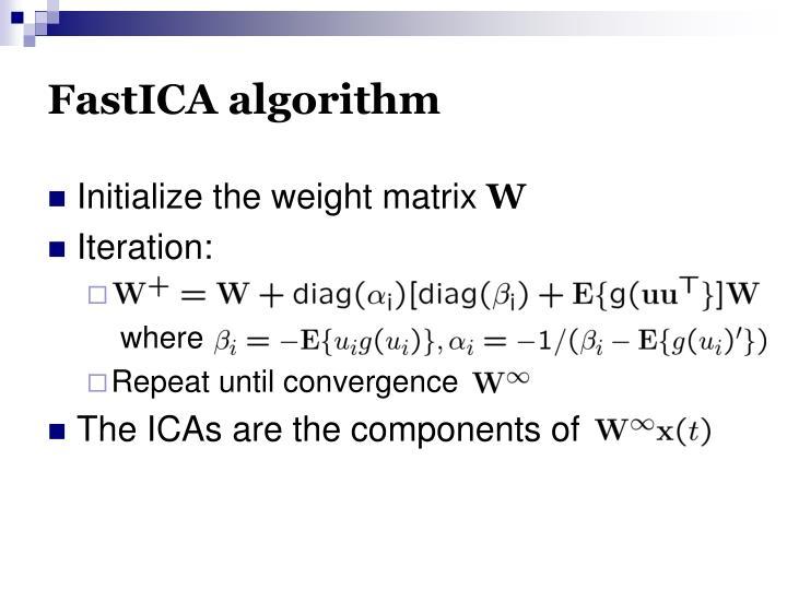 FastICA algorithm
