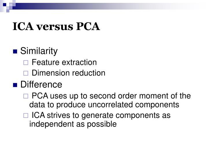 ICA versus PCA
