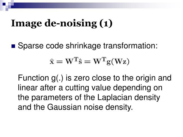 Image de-noising (1)