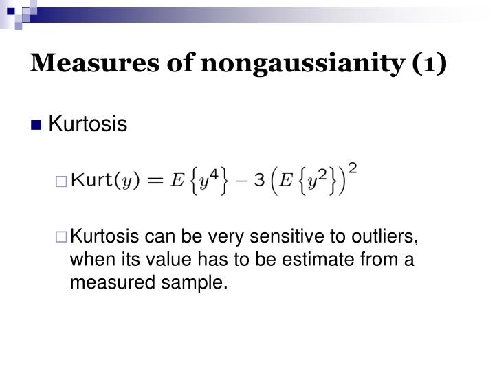 Measures of nongaussianity (1)