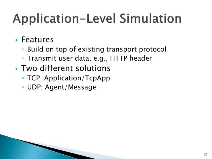 Application-Level Simulation