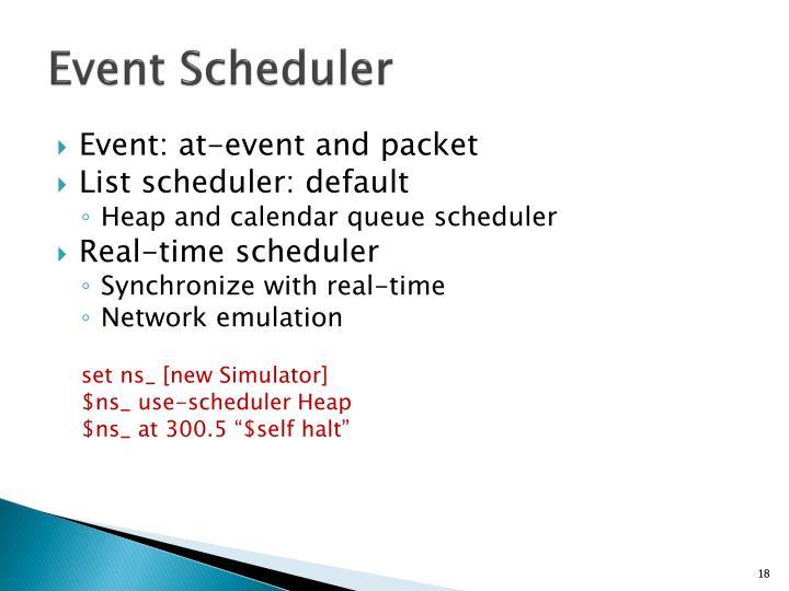Event Scheduler
