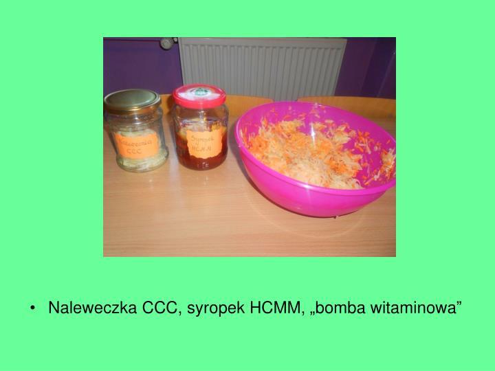 "Naleweczka CCC, syropek HCMM, ""bomba witaminowa"""