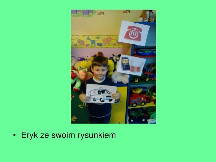 Eryk ze swoim rysunkiem
