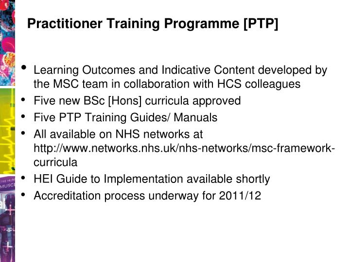 Practitioner Training Programme [PTP]