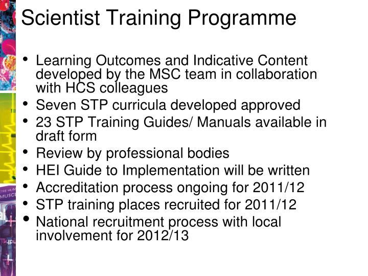 Scientist Training Programme