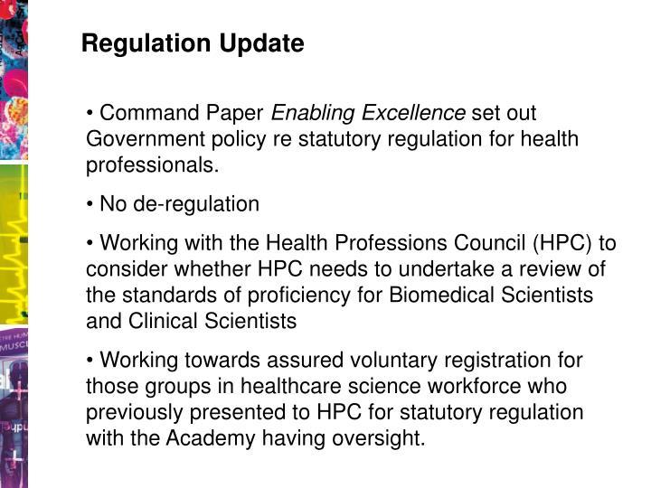 Regulation Update