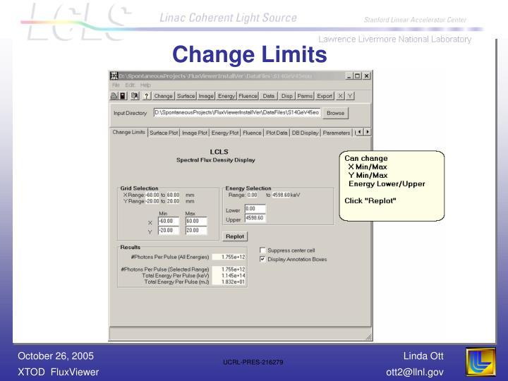 Change Limits