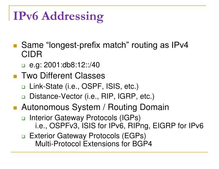 IPv6 Addressing