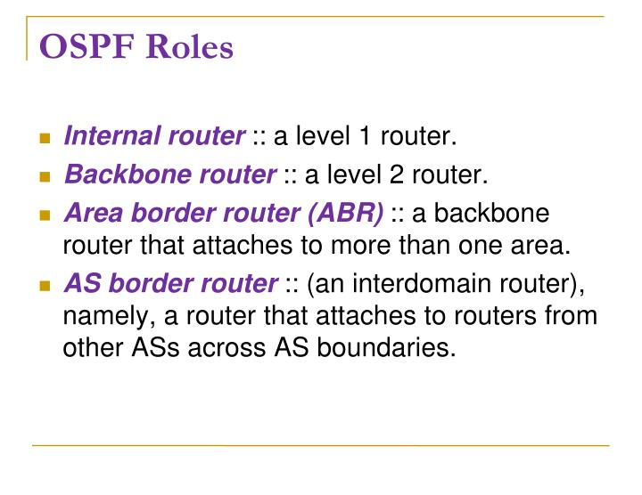 OSPF Roles