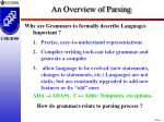 an overview of parsing