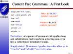 context free grammars a first look