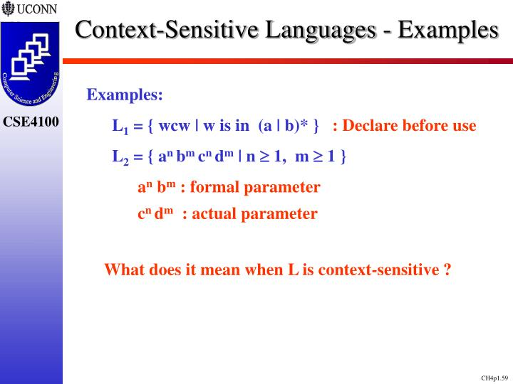 Context-Sensitive Languages - Examples