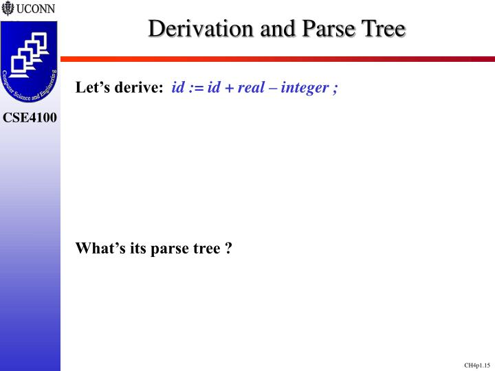 Derivation and Parse Tree