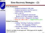 error recovery strategies 2