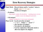 error recovery strategies