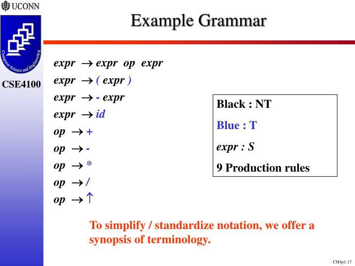 Example Grammar