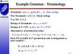 example grammar terminology