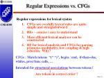 regular expressions vs cfgs