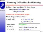 removing difficulties left factoring